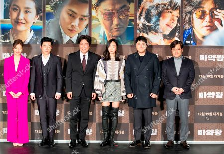 Stock Image of Kim So-Jin, Jo Jung-suk, Song Kang-ho, Bae Doona, Kim Dae-Myung and Woo Min-Ho