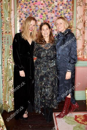 Nicky Yates, Monica Vinader and Laura Weir
