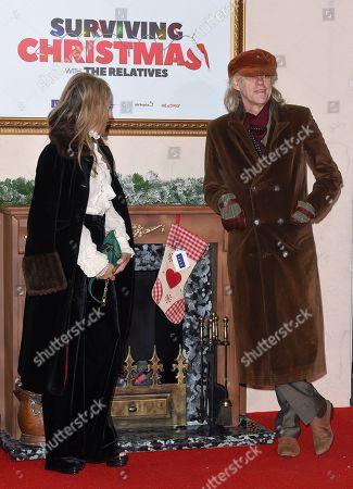 Stock Picture of Jeanne Marine and Bob Geldof