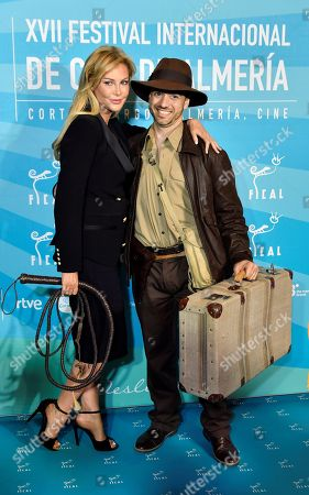 Ireland's actress Alison Doody (L) arrives at the Almeria's Cinema International Festival gala held at the Cervantes Theatre in Almeria, southern Spain, 21 November 2018. Doody received the 'Almeria tierra de cine' award coinciding with the 30th anniversary of the film 'Indiana Jones and the last crusade'.