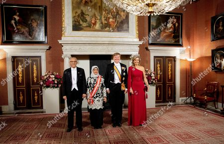 King Willem-Alexander, Queen Maxima, President Halimah Yacob of the Republic of Singapore and her husband Mohamed Abdullah Alhabshee