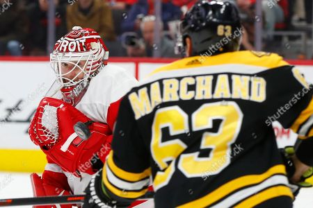 Editorial image of Bruins Red Wings Hockey, Detroit, USA - 21 Nov 2018