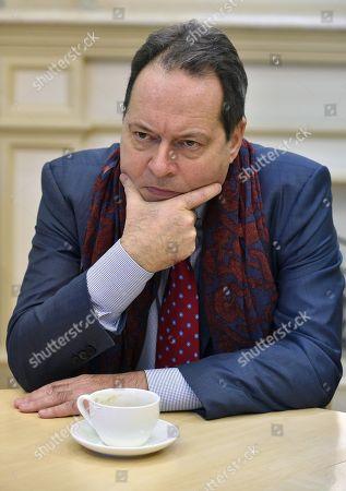 Art historian and art critic Joachim Pissarro during an interview.