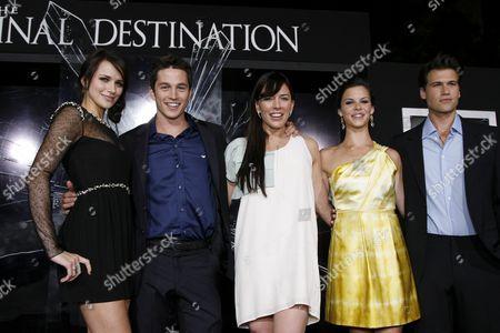 Shantel VanSanten, Bobby Campo, Krista Allen, Haley Webb and Nick Zano