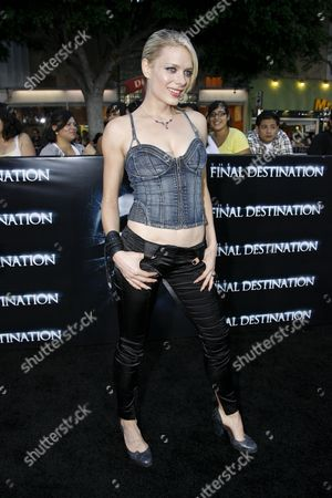 Editorial image of 'The Final Destination' film premiere, Los Angeles, America - 27 Aug 2009
