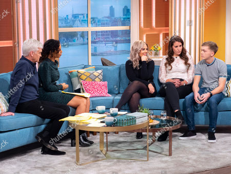 Phillip Schofield, Rochelle Humes, Rebecca Jane, Maddy Anholt and Aiden Dugdale
