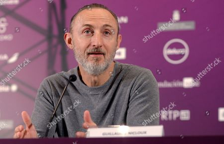 Guillaume Nicloux attends a press conference on his movie 'Les Confins du Monde' (To the Ends of the World) at the Gijon International Film Festival, in Gijon, Asturias, Spain, 22 November 2018.