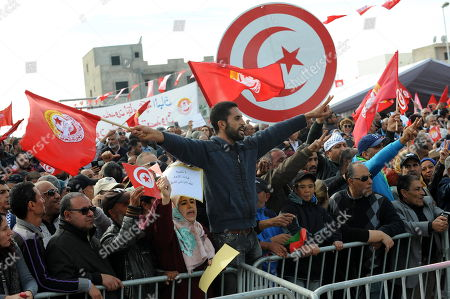 Public service general strike Tunisia Stock Photos