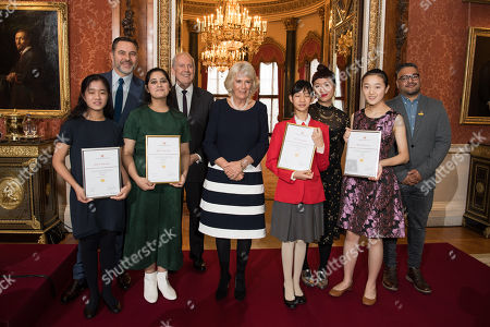 Editorial photo of The Queen's Commonwealth Essay Prize, Buckingham Palace, London, UK - 22 Nov 2018