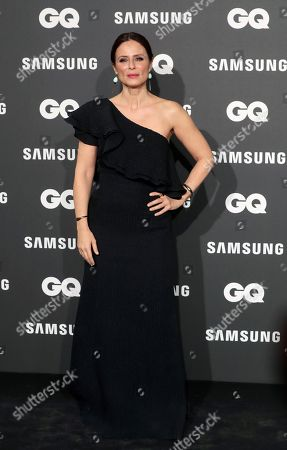 Italian-Spanish actress Aitana Sanchez-Gijon poses for photographers upon arrival at the GQ Spanish Men of the Year Awards 2018 gala held in Madrid, Spain, 22 November 2018. The awards are presented by international monthly men's magazine GQ.
