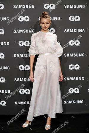 Stock Picture of Polish model and laureate Magdalena Frackowiak poses for photographers upon arrival at the GQ Spanish Men of the Year Awards 2018 gala held in Madrid, Spain, 22 November 2018. The awards are presented by international monthly men's magazine GQ.