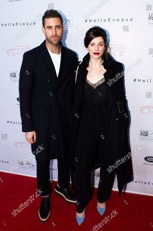 Stock Photo of Oliver Jackson-Cohen and Jessica De Gouw