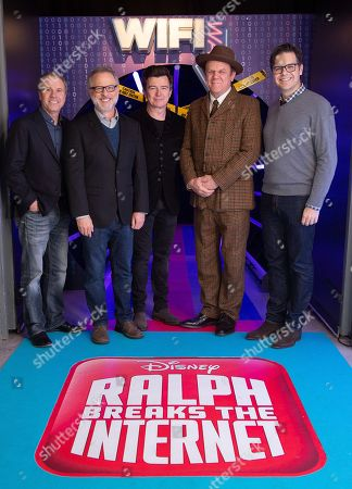 Rich Moore, Phil Johnson and Clark Spencer, Rick Astley and John C Reilly
