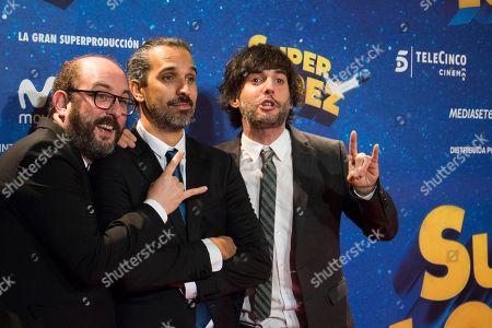 Stock Picture of Borja Cobeaga, Javier Ruiz Caldera and Diego San Jose