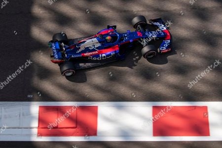 New Zealand's Formula One driver Brendon Hartley of Scuderia Toro Rosso in action during the first practice session of the Abu Dhabi Formula One Grand Prix 2018 at Yas Marina Circuit in Abu Dhabi, United Arab Emirates, 23 November 2018. The Formula One Grand Prix of Abu Dhabi will take place on 25 November 2018.