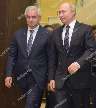 Editorial picture of Russian President Vladimir Putin meets President of Abkhazia Raul Khajimba, Sochi. Russia - 21 Nov 2018