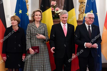 Queen Mathilde, King Philippe, Frank-Walter Steinmeier, Daniela Schadt