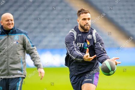 Stock Picture of Alex Dunbar (Glasgow Warriors) during the team run, training session for Scotland at BT Murrayfield, Edinburgh