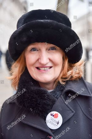 Stock Photo of Suzanne Evans at a leave EU demonstration outside Downing Street.
