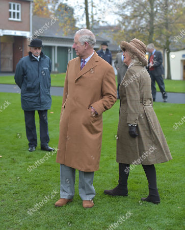 Prince Charles and Camilla Duchess of Cornwall after they unveiled a statue by Nic Fiddian-Green.