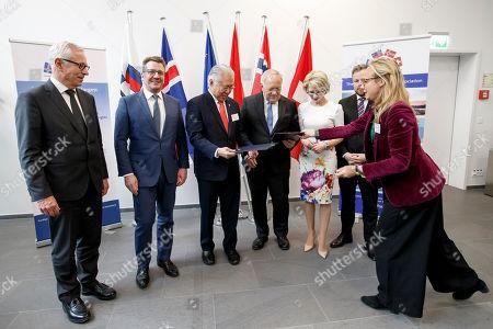 Editorial picture of SWITZERLAND EFTA MINISTERIAL MEETING, Geneva Geneve Genf - 23 Nov 2018