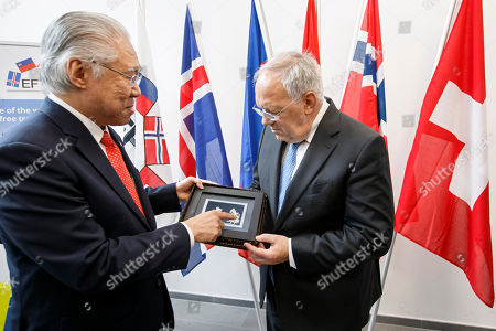 Editorial image of SWITZERLAND EFTA MINISTERIAL MEETING, Geneva Geneve Genf - 23 Nov 2018
