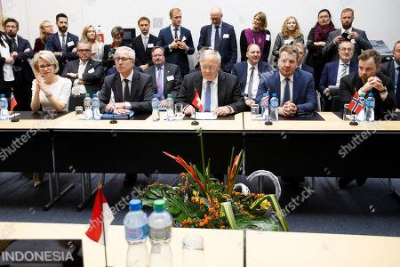 Editorial photo of SWITZERLAND EFTA MINISTERIAL MEETING, Geneva Geneve Genf - 23 Nov 2018