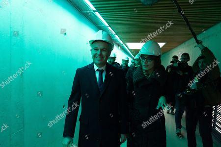 Francois de Rugy and Celia Blauel
