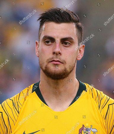 Australia's Tomi Juric during their international soccer friendly against Lebanon in Sydney