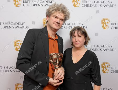 Stock Image of Simon Farnaby and Alexandra Derbyshire - Feature Film - 'Paddington 2'