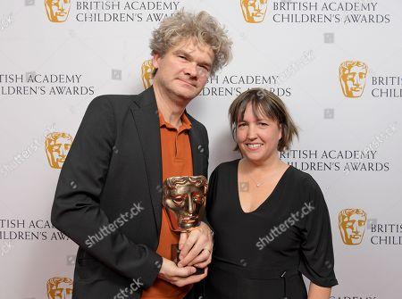 Stock Picture of Simon Farnaby and Alexandra Derbyshire - Feature Film - 'Paddington 2'