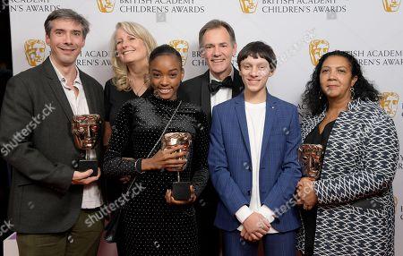Editorial photo of British Academy Children's Awards, Press Room, Roundhouse, London, UK - 25 Nov 2018