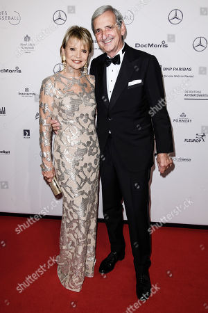 German actress Uschi Glas (L) and her husband Dieter Hermann attend the Federal Press Ball (Bundespresseball) in Berlin, Germany, 23 November 2018. The event takes place for the 67th time.