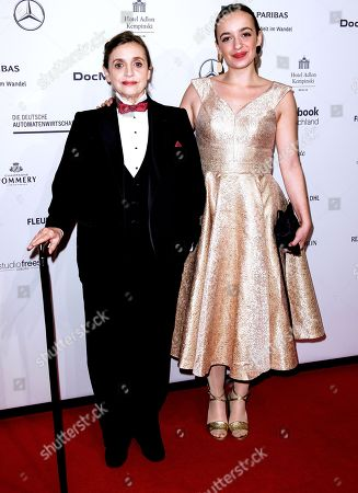 German actresses Katharina Thalbach (L) and Nellie Thalbach attend the Federal Press Ball (Bundespresseball) in Berlin, Germany, 23 November 2018. The event takes place for the 67th time.