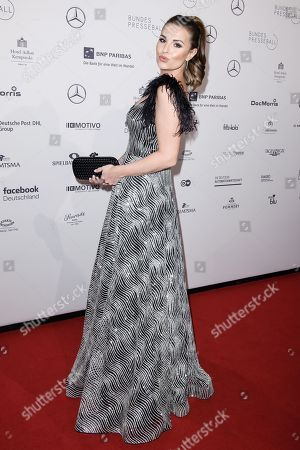 TV presenter Laura Wontorra attends the Federal Press Ball (Bundespresseball) in Berlin, Germany, 23 November 2018. The event takes place for the 67th time.