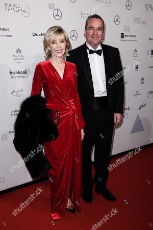 German journalist Doris Schroeder-Koepf (L) and her partner, Lower Saxony Interior Minister Boris Pistorius attend the Federal Press Ball (Bundespresseball) in Berlin, Germany, 23 November 2018. The event takes place for the 67th time.
