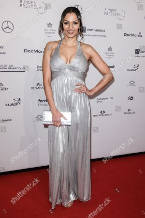 Stock Picture of German singer-songwriter Francisca Urio attends the Federal Press Ball (Bundespresseball) in Berlin, Germany, 23 November 2018. The event takes place for the 67th time.