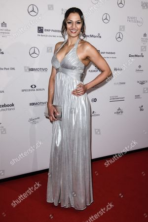 German singer-songwriter Francisca Urio attends the Federal Press Ball (Bundespresseball) in Berlin, Germany, 23 November 2018. The event takes place for the 67th time.