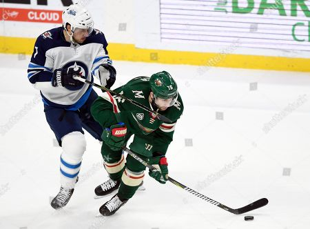 Editorial photo of Jets Wild Hockey, St. Paul, USA - 23 Nov 2018