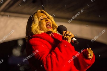 Oscar, Grammy Winner and Rock and Roll Hall of Fame Inductee, Darlene Love sings, at the Macy's Great Tree Lighting at Union Square in San Francisco on