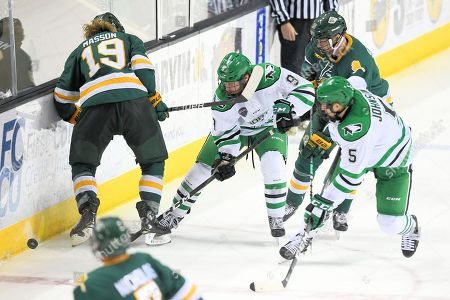 Editorial photo of NCAA Men's Hockey Alaska Anchorage v North Dakota, Grand Forks, USA - 23 Nov 2018