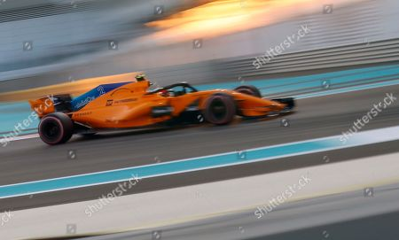 Mclaren driver Stoffel Vandoorne of Belgium steers his car during the qualifying session at the Yas Marina racetrack in Abu Dhabi, United Arab Emirates, . The Emirates Formula One Grand Prix will take place on Sunday