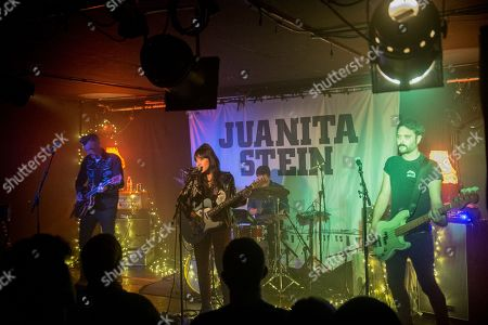Editorial image of Juanita Stein in concert at The Courtyard Theatre in Shoreditch, London, UK - 23 Nov 2018