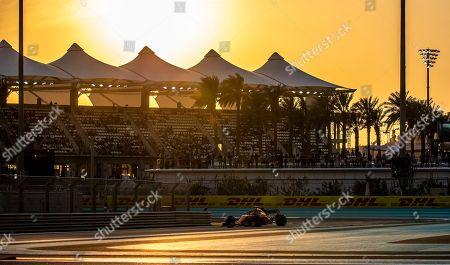 Belgian Formula One driver Stoffel Vandoorne of McLaren in action during the qualifying session at Yas Marina Circuit in Abu Dhabi, United Arab Emirates, 24 November 2018. The Formula One Grand Prix of Abu Dhabi will take place on 25 November 2018.