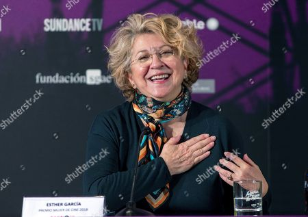 Stock Photo of Ester Garcia attends a press conference after being awarded with Mujer de Cine Award at Gijon International Film Festival in Gijon, northern Spain, 24 November 2018.
