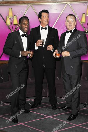 (L to R) Giles Terera (Sammy Davies Jnr), Sam Kane (Dean Martin) and Louis Hoover (Frank Sinatra)