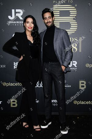 Lamiya Slimani and Sami Slimani arrive for the Place To B Award 2018 at Axel Springer SE in Berlin, Germany, 24 November 2018. The award is for the most important social media celebrities, bloggers and YouTube creators.