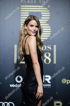 Stock Image of Alena Blohm arrives for the Place To B Award 2018 at Axel Springer SE in Berlin, Germany, 24 November 2018. The award is for the most important social media celebrities, bloggers and YouTube creators.