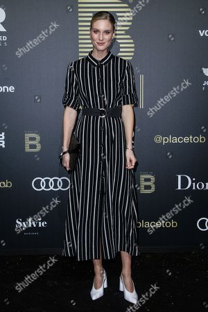 Kim Hnizdo arrives for the Place To B Award 2018 at Axel Springer SE in Berlin, Germany, 24 November 2018. The award is for the most important social media celebrities, bloggers and YouTube creators.