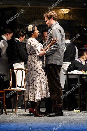Nadine Benjamin (Musetta), Nicholas Lester (Marcello)